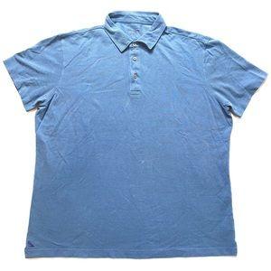 UNTUCKit Mens Polo Shirt Blue XXL Pima Cotton